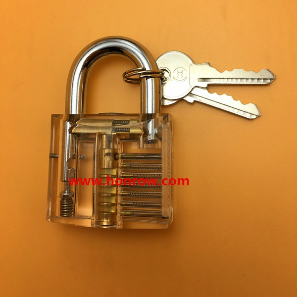 New high quality Transparent Visible Pick Cutaway Mini Practice View Padlock Lock Training Skill For Locksmith used