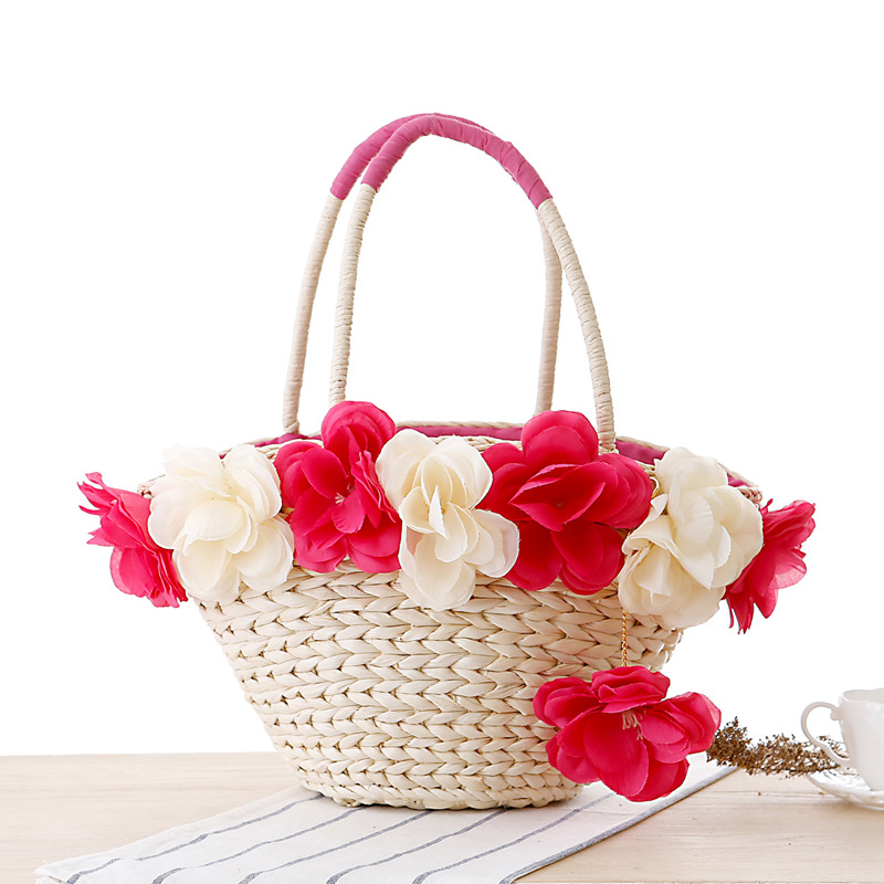 Get Quotations · 2015 Direct Selling Real Tote Totes Faux Fur Two Bolsos Bag  Manufacturers Selling Peony Flower Shoulder 12e91b6b74877