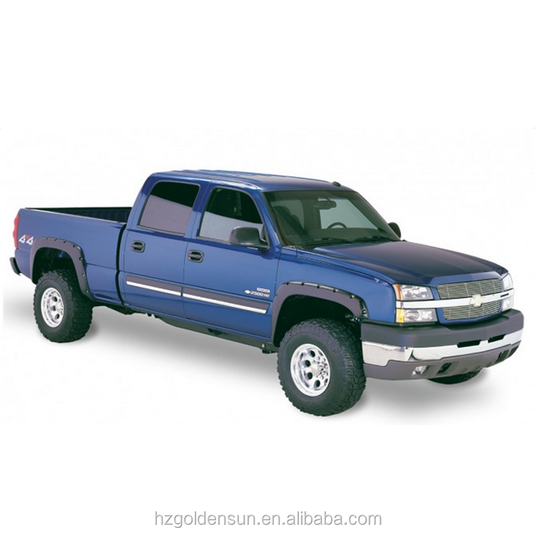 Chevy Silverado Fender Flares >> Fender Flares 03 06 Chevy Silverado Pocket Riveted Style Black 4pcs Set Buy Fender Flares Made By Pp Plastic Injected Plastic Fender