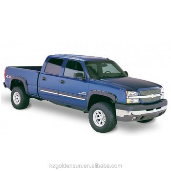 Fender Flares 03 06 Chevy Silverado Pocket Riveted Style Black 4pcs Set Buy Fender Flares Made By Pp Plastic Injected Plastic Fender