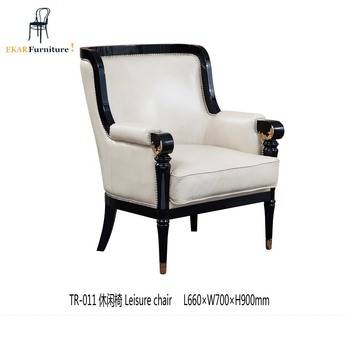 New Design White Wholesale Accent Small Wooden High Back Recliner Relax  Chair , Living Room Chairs Part 85