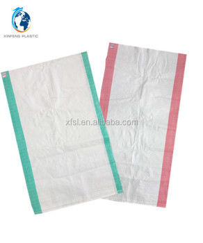 china supplier polypropylene pp woven bag 50kg for Yemen flour, rice, grain