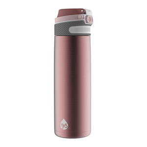 Hy3 Stainless Steel Insulated Water Bottle with flip straw / H2O Sports BPA Free Water Bottle