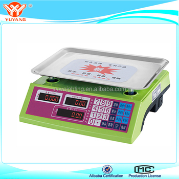 Customized Color Price Computing Scale Acs Tcs Electronic