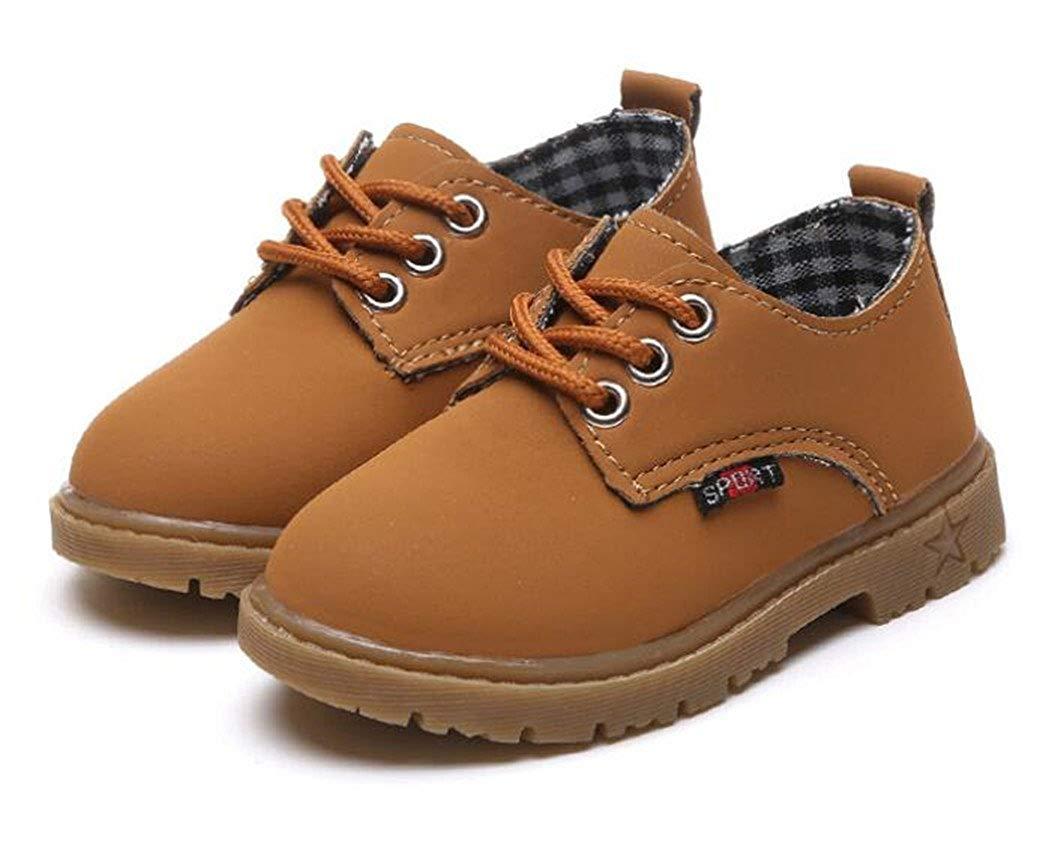 09130e293f1e Get Quotations · Bumud Kids Boys Girls Lace-up Uniform Oxford Shoe ( Toddler Little Kid)