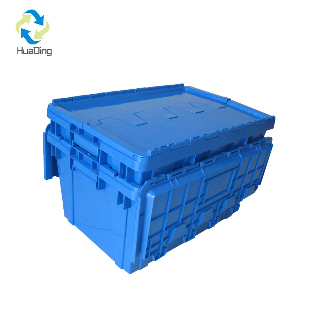 600 400 315 Plastic Crates Stackable Turnover Box With Lid Plastic