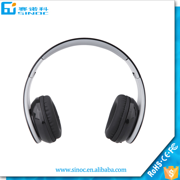 2016 Wireless stereo headphone with sd card slot,wireless fm radio mp3 headphone headset