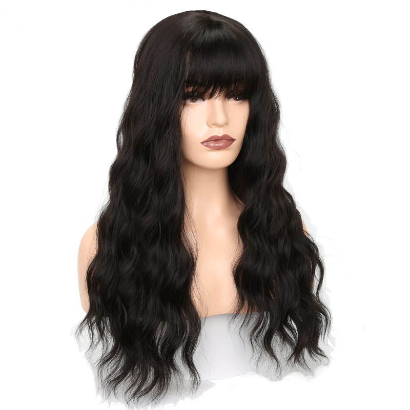 High Temperature Fiber Natural Long Body Wave synthetic hair wigs,High Quality synthetic hair wigs dropshipping for black women