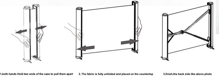 XYSCREEN luce ambiente rifiutare portatile pieghevole mobile schermo del proiettore mini schermo di proiezione tavolo