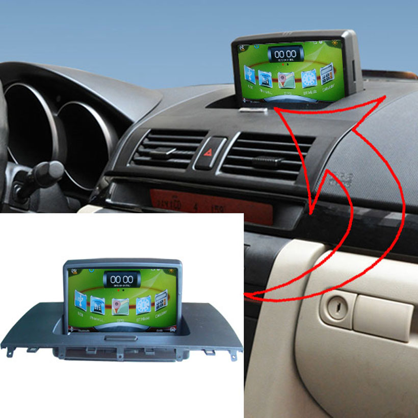 Car multimedia monitor for Mazda 3 Car monitor for Mazda 3 with Car DVR,GPS,A2DP,USB player(No Disk),Free 8G SD,8G USB