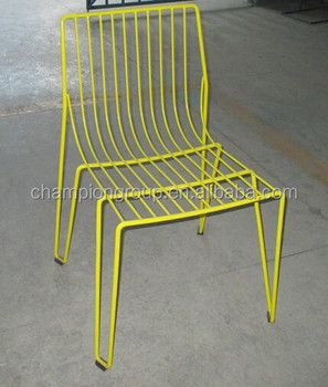 Outdoor Wire Chair, Tio Chair Metal White, Black, Golden WR 3305