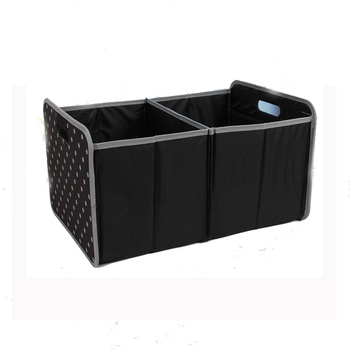 Foldable Storage Box Car Trunk Organizer two spaces Auto Toy spots box