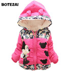 New 2019 Autumn & Winter Children Minnie Hoodies Jacket & Coat Baby Girls Clothes Kids Toddle Outerwear Warm Coat Age 1-4T