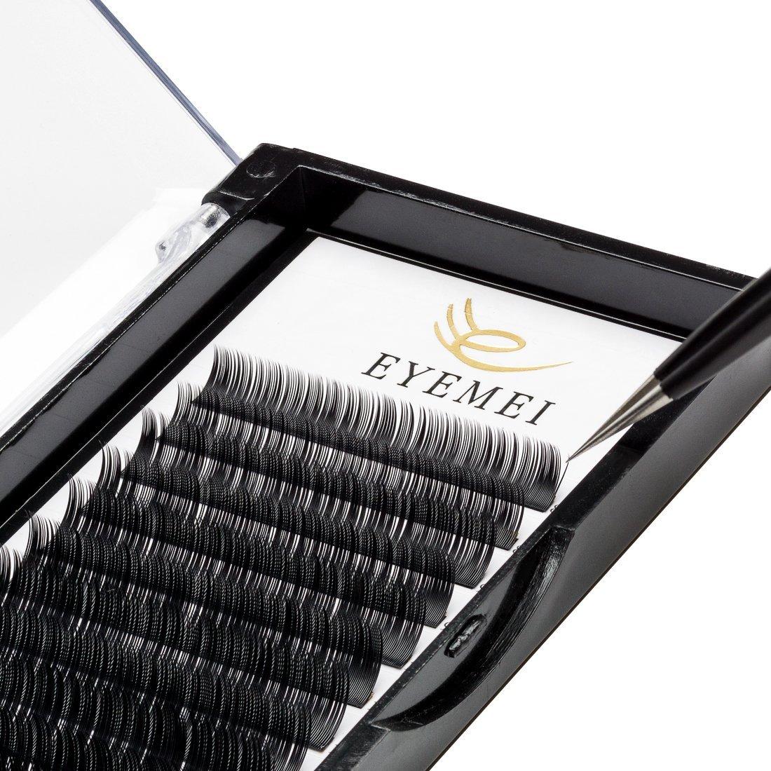 9a63ff787f9 Get Quotations · Eyelash Extensions C Curl 0.20 12mm Natural Soft Faux Mink  Single Eyelash Extensions Individual False Eyelashes