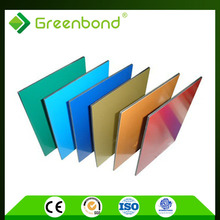 Greenbond various styles trailer wall panel wood grain aluminum composite panel
