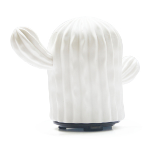 Home Decorative New Design Cactus White Ceramic Diffuser With Essential Oil Air Humidifier