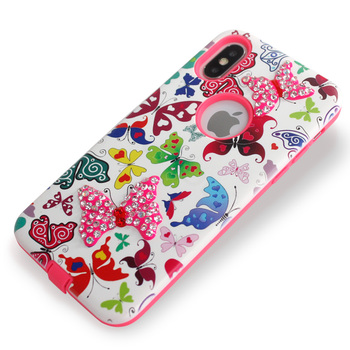 For Samsung Galaxy J7 2018 J737p Metropcs J7 Star J7 Refine Boos Armor Case  Embossed With Plaster Diamond Mobile Phone Cover - Buy For Samsung Galaxy