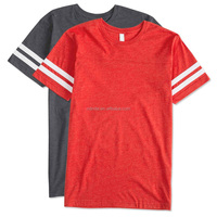 Gym Clothing Men Varsity T-shirt Short Sleeves Ohio State Basketball Football Jersey With Double Contrast Stripes On Sleeves