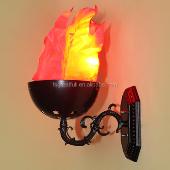 Led Wall Mounted Fake Fire Effect Flame Light Battery Operated Stage Dmx Product On