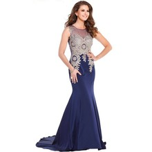 Navy Blue Evening Dress Vestidos De Festa Prom Dresses 2016