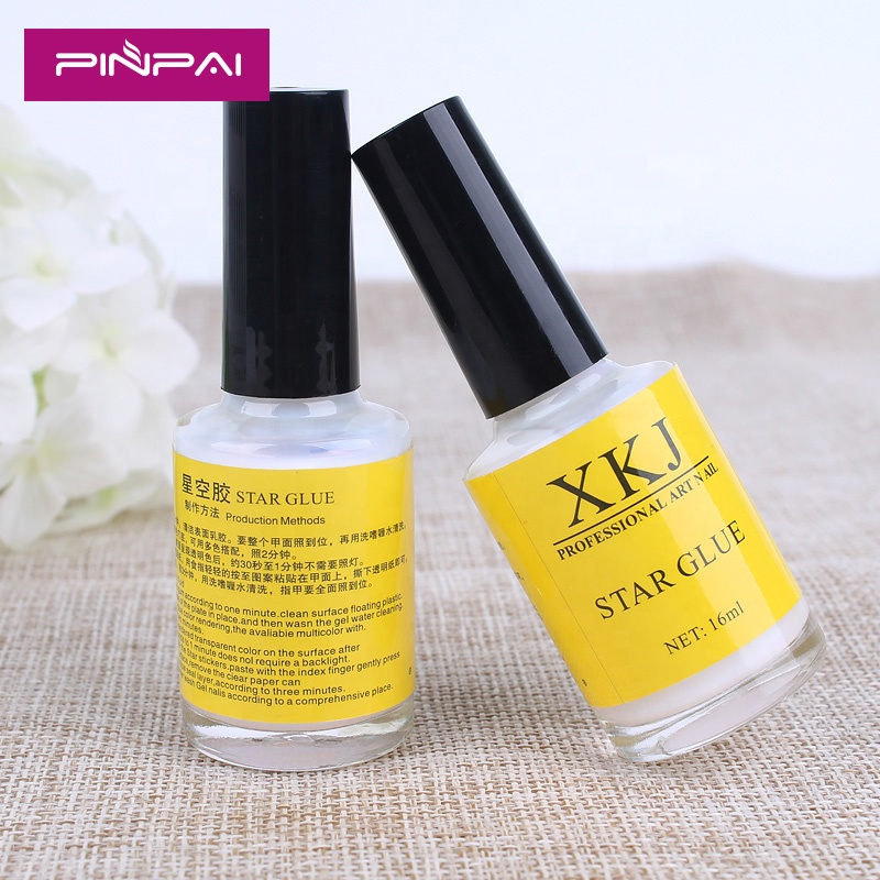 Pro Nail Art Glue for Foil Stickers Nail Transfer Tips Adhesive15ml Star Nails