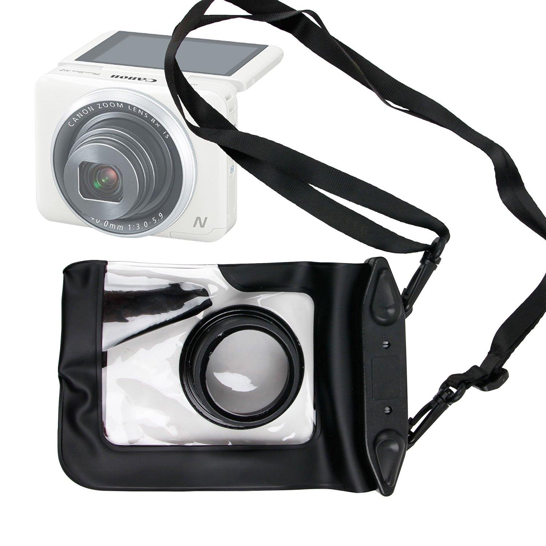 camera strap cross cheap deals duragadget n2 compartment powershot resistant pouch durable canon lens premium