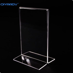 Clear Acrylic Table /Sign Card Holder,Menu Display Stand