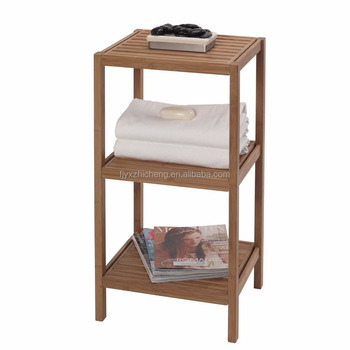 Home Bamboo 3 Tier Storage Shelving Unit Free Standing Bathroom