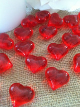 23mm Red Acrylic Heart Shaped Table Confetti/Scatters/Vase fillers
