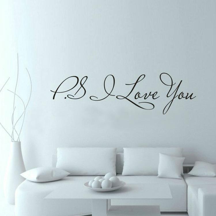 Aliexpress.com : Buy 58*15cm PS I Love You Wall Art Decal