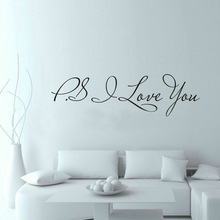 PS I Love You – Wall Art Decal – Home Decor – Famous & Inspirational Quotes Living Room Bedroom Removable Wall Stickers ZY8017