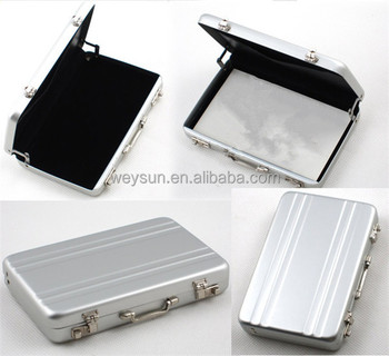 Brand new metal business id credit card holder mini suitcase brand new metal business id credit card holder mini suitcase business bank card box case organizer reheart Gallery