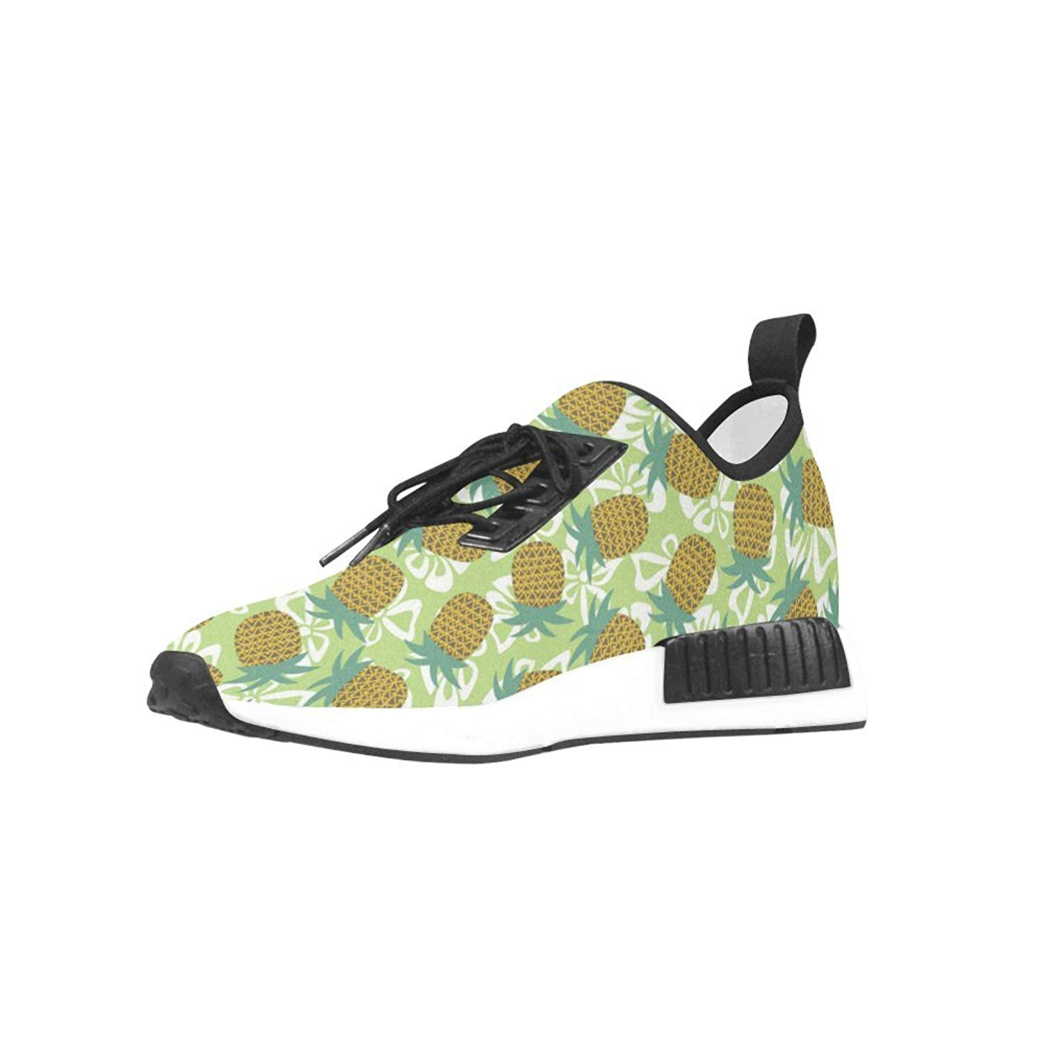 Pineapple Bow Breathable Woven Leather Insole Mesh Cloth Draco Running & Walking Shoes For Women