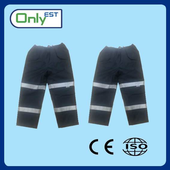 Wholesale cheap price reflective safety pants with high visibility reflective tape