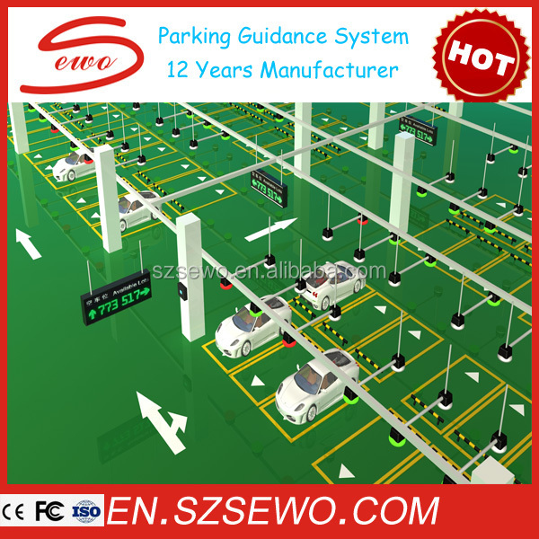 SEWO innovative dynamic electronic magnetic parking guidance system with led display