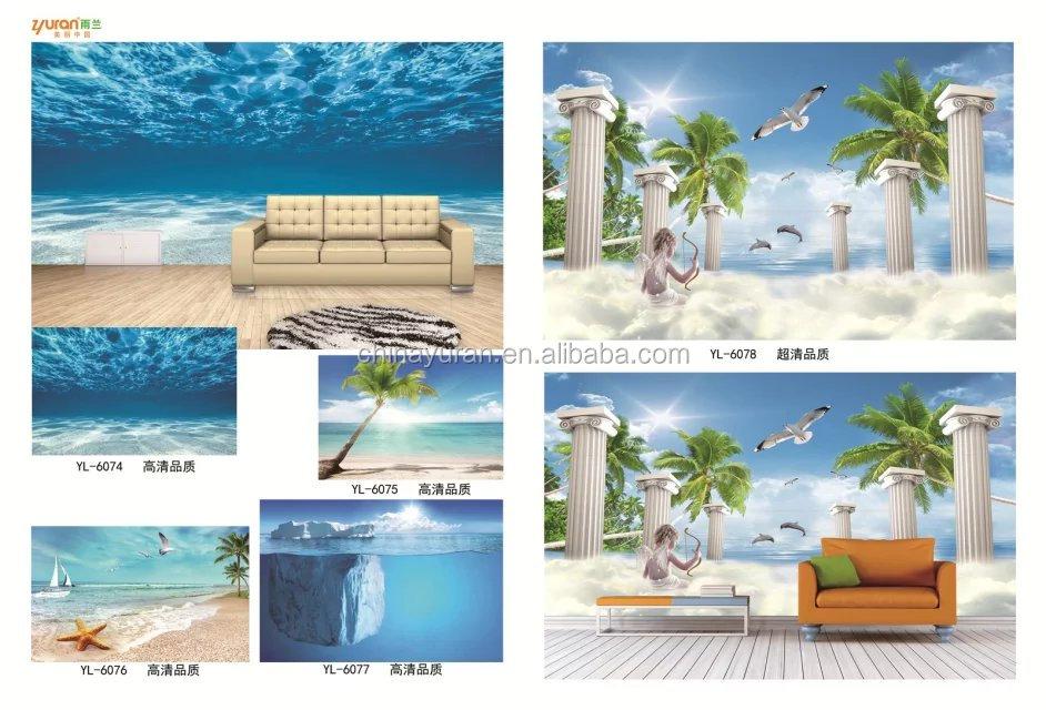 Venta al por mayor murales decorativos para salas compre for Papel tapiz estilo mural