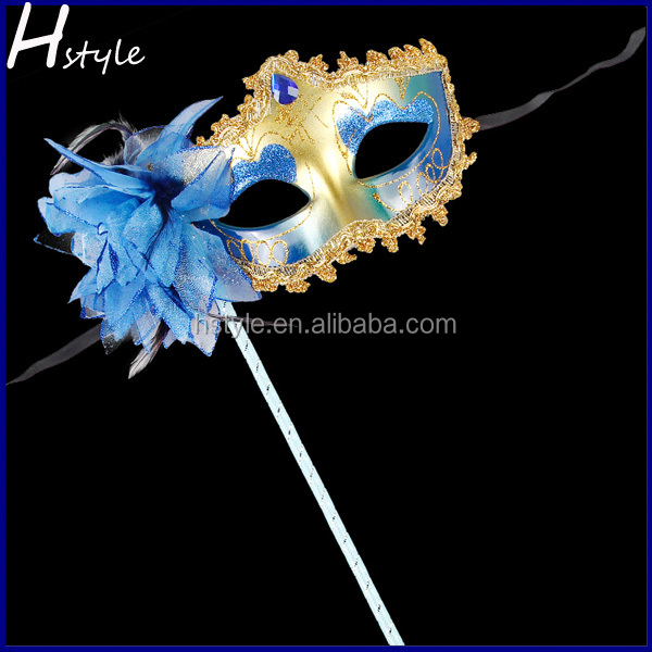 New Design Available With Handle Crack Party Mask On Sticks MJA235