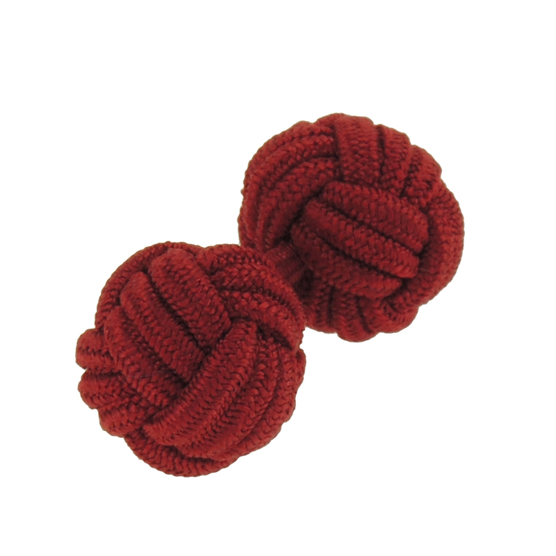 Vogue multi color custom silk knitted Cufflinks