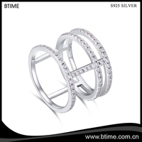 Hot Selling 925 Sterling Silver Designs Bridal Wedding Sterling Silver Rings