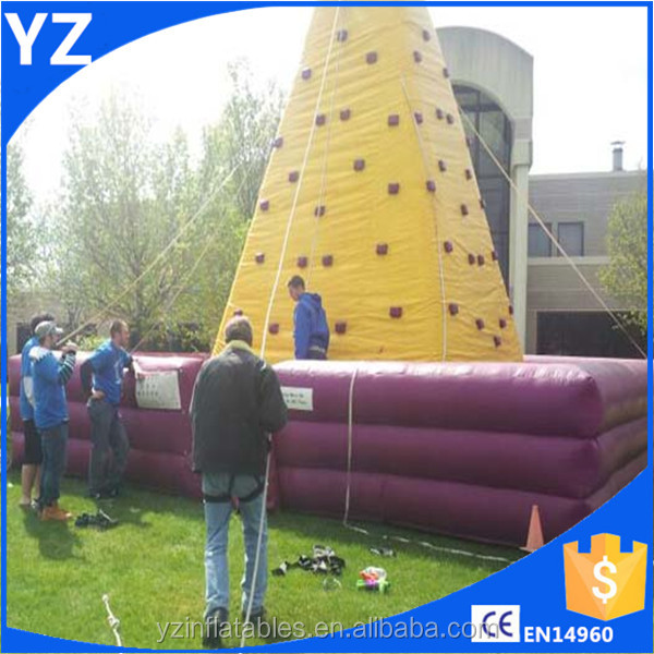 Inflatable water rock climbing wall,indoor rock climbing wall,rotating rock climbing wall