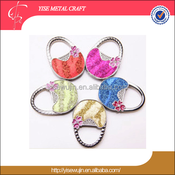 New Push product X Mas Purse handbag decorations zinc Alloy basket shape bag hook for Office desktop Nice souvenir Present