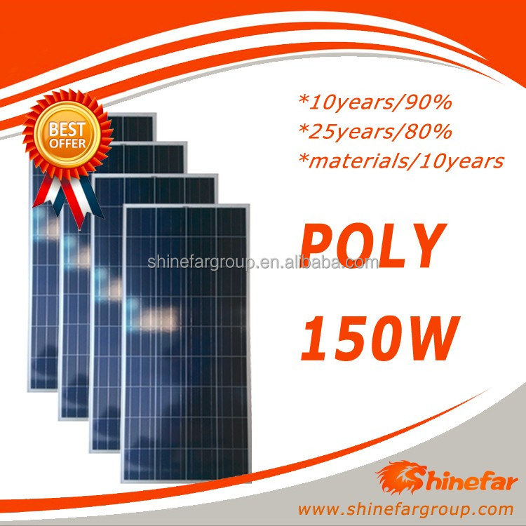 mnre approved solar panel photovoltaic panel 150W for solar panel umbrella
