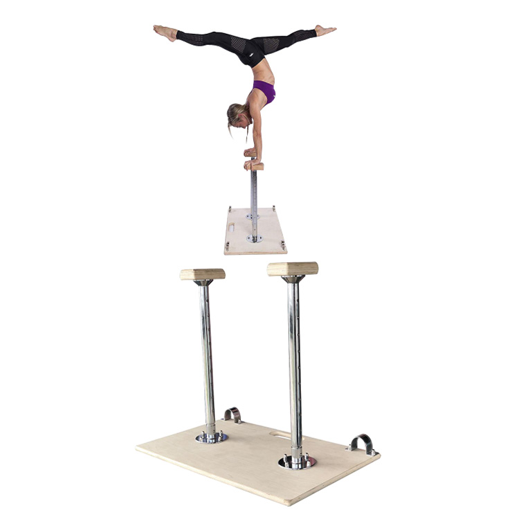 Alibaba.com / 80x40x62cm Wooden balance training Yoga Handstand Equipment Exercise Adjustable Fit Board Yoga Handstand Canes