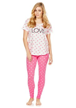 a2e69c039559 Cute Heart Print Short Sleeves Minion Pajamas Set - Buy Minion ...