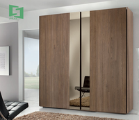 China Manufacturer 2 Door Wooden Wardrobe With Mirror