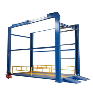 Foru hydraulic outdoor warehouse material cargo lift platform with remote control