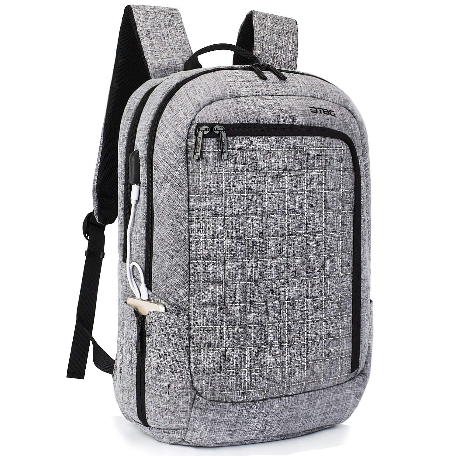284ffd2960ef Buy DTBG Laptop Backpack 17.3 Inch with USB Charging Port, Water ...