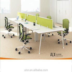 Foshan office partition for 4 person commercial furniture cubicle workstation