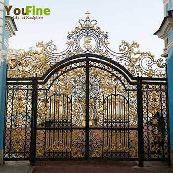Hot Sale Golden Paint Wrought Iron Gate Designs Buy