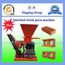 Golden supplier ECO1-25 kenya soil cement interlocking brick making machine